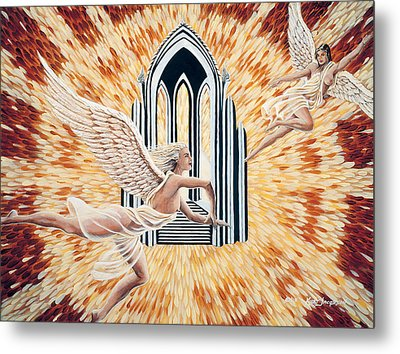 Metal Print featuring the painting Heavens Gate by Kurt Jacobson