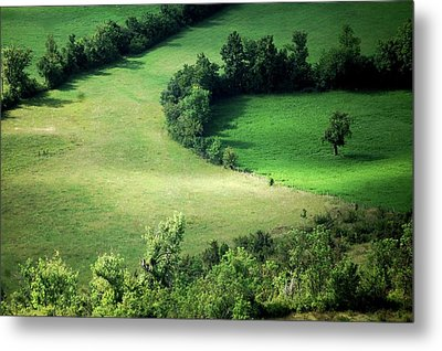Hedged Farmland Metal Print by Photo Marylise Doctrinal