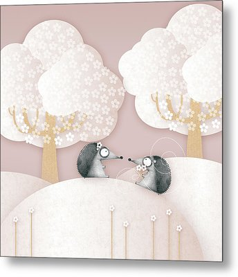 Hedgehogs - May Metal Print by ©cupofsnowflakes
