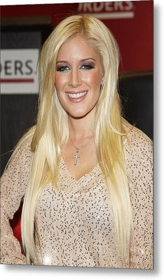 Heidi Montag At In-store Appearance Metal Print by Everett