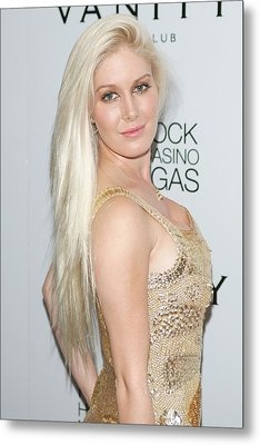 Heidi Montag In Attendance For Heidi Metal Print by Everett