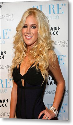 Heidi Montag In Attendance For Pures Metal Print by Everett