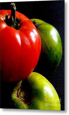 Heirloom Tomatoes Metal Print by Maria Scarfone