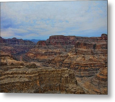 Helicopter View Of The Grand Canyon Metal Print by Douglas Barnard