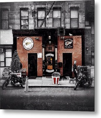 Hells Angels Nyc Metal Print by Natasha Marco