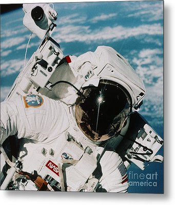 Helmet Of Astronaut Mccandless Metal Print