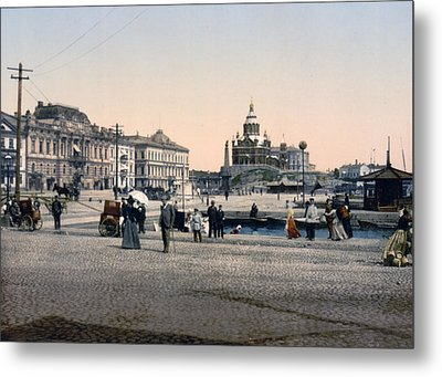 Helsinki Finland - Senate Square Metal Print by Bode Stevenson