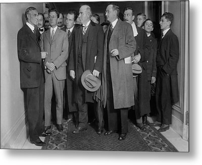 Henry Ford 1863-1947 With Reporters Metal Print by Everett