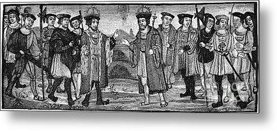 Henry Viii & Francis I Metal Print by Granger