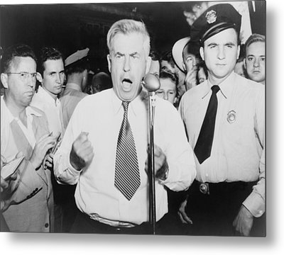 Henry Wallace 1888-1965, 1948 Metal Print by Everett