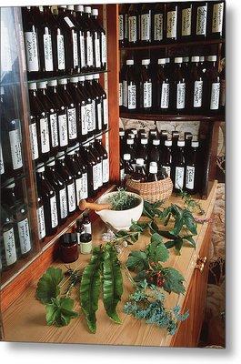 Herbal Pharmacy Metal Print by Tek Image