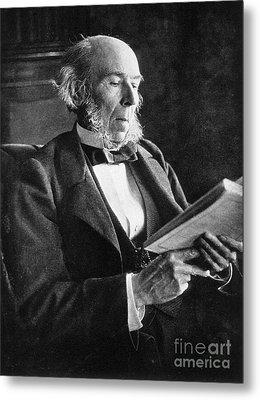 Herbert Spencer, English Polymath Metal Print by Science Source
