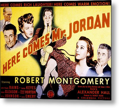 Here Comes Mr. Jordan, James Gleason Metal Print