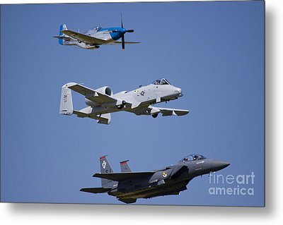 Heritage Flight Wings Over Whitman Metal Print by Linda Gardner-Goos
