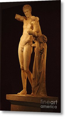 Hermes And The Infant Metal Print by Bob Christopher