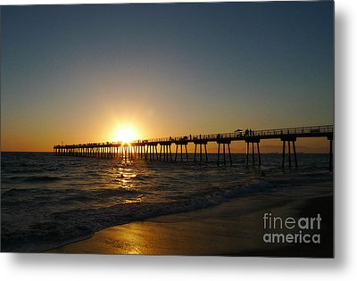 Hermosa Beach Sunset Metal Print