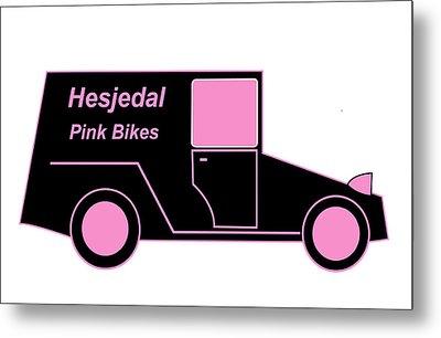 Hesjedal Pink Bikes - Virtual Car Metal Print by Asbjorn Lonvig