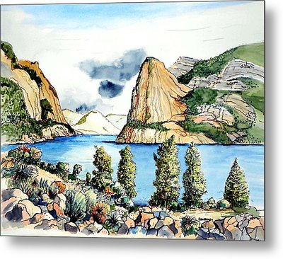 Metal Print featuring the painting Hetch Hetchy by Terry Banderas