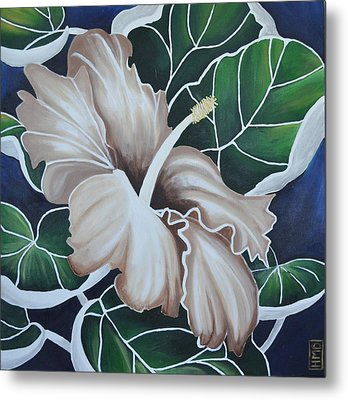 Hibiscus Metal Print by Holly Donohoe