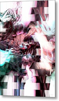 Hidden Dimensions Metal Print by Linda Sannuti
