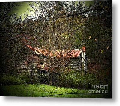 Hidden House In Spring Metal Print by Joyce Kimble Smith