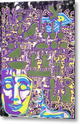 Hieroglyphics Metal Print by Ben Leary