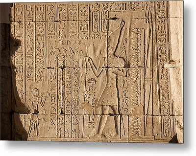 Hieroglyphics Cover The Walls Metal Print by Taylor S. Kennedy