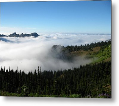 High Above The Clouds Metal Print by Kathy Long