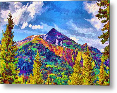 Metal Print featuring the digital art High Country Pyramid by Brian Davis