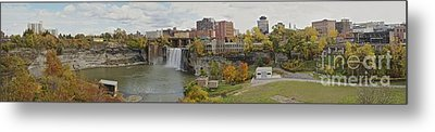 Metal Print featuring the photograph High Falls Panorama by William Norton
