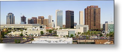 High Rise Buildings Of Downtown Phoenix Metal Print by Jeremy Woodhouse