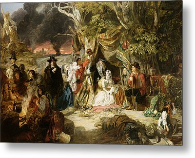 Highgate Fields During The Great Fire Of London In 1666 Metal Print by Edward Matthew Ward