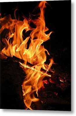 Highly Defined Flame Metal Print