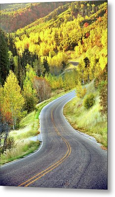 Highway Near Alpine Metal Print by Utah-based Photographer Ryan Houston