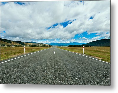 Highway Through The Countryside  Metal Print by Ulrich Schade