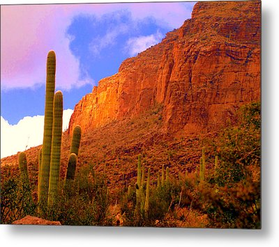 Hiking The Canyon Metal Print