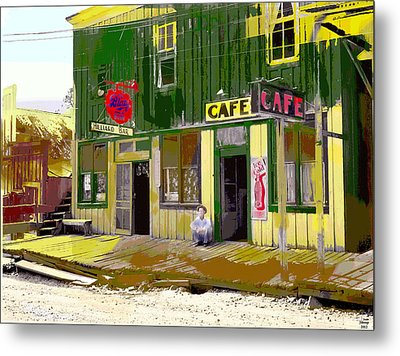 Metal Print featuring the mixed media Hilliard Bar by Charles Shoup