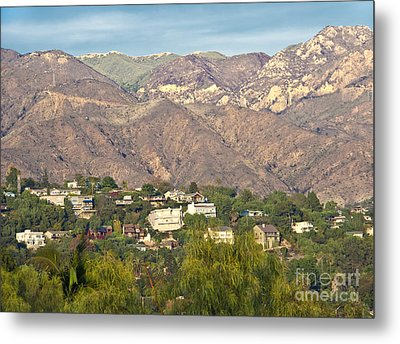 Hilly Residential Area Metal Print by David Buffington