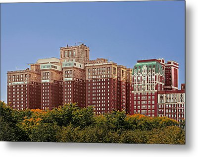 Hilton Chicago And Blackstone Hotel Metal Print by Christine Till