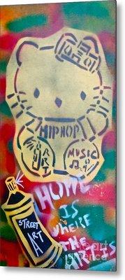 Hip Hop Kitty Metal Print by Tony B Conscious