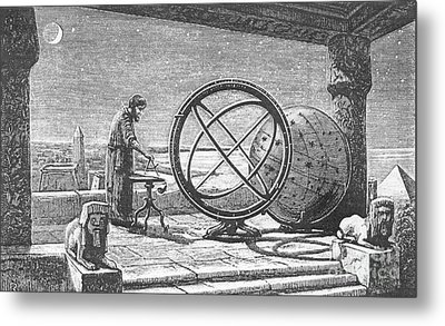 Hipparchus, Greek Astronomer Metal Print by Science Source