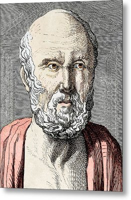 Hippocrates, Ancient Greek Physician Metal Print by Sheila Terry
