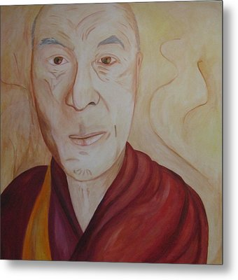 His Holiness The Dalai Lama Metal Print by Lorraine Toler
