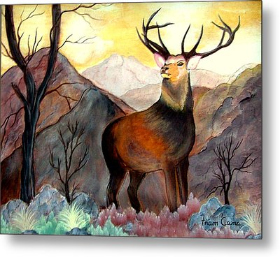 His Majesty Metal Print by Fram Cama