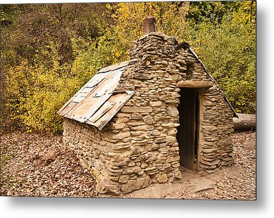 Historic Gold Miners Stone Cottage Metal Print by Graeme Knox