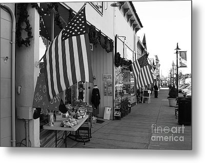 Historic Niles District In California Near Fremont . Main Street . Niles Boulevard . 7d10692 . Bw Metal Print by Wingsdomain Art and Photography