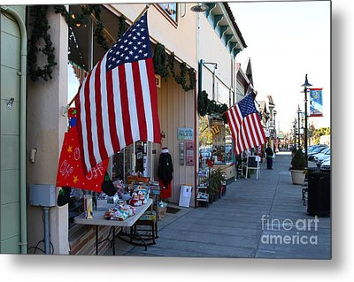 Historic Niles District In California Near Fremont . Main Street . Niles Boulevard . 7d10692 Metal Print by Wingsdomain Art and Photography