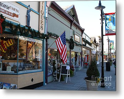 Historic Niles District In California Near Fremont . Main Street . Niles Boulevard . 7d10701 Metal Print by Wingsdomain Art and Photography