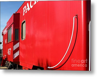 Historic Niles District In California Near Fremont . Western Pacific Caboose Train . 7d10724 Metal Print by Wingsdomain Art and Photography