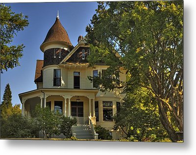 Historic Victorian House Metal Print by Tyra  OBryant